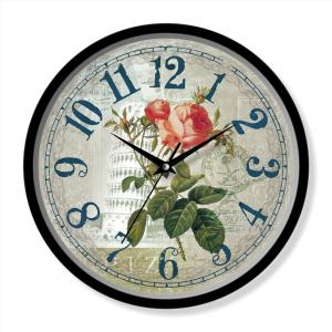 Flower painting clock