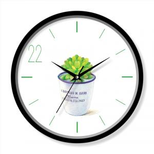 White design clock