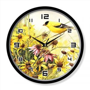 Bird painting clock