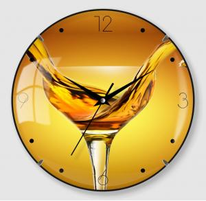 Painting design Glass clock