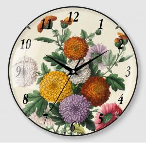 Old flower wall clock