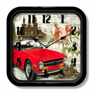 Shabby car painting clock