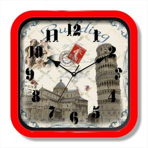 City painting wall clock