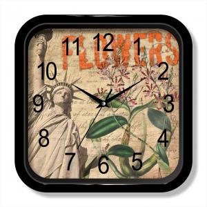 USA painting wall clock