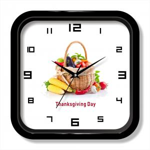 Food photos wall clock