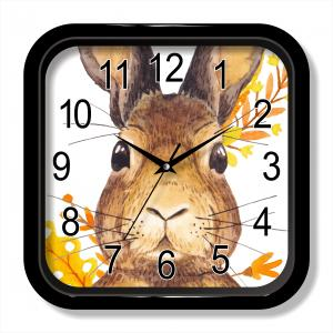 Rabbit painting wall clock