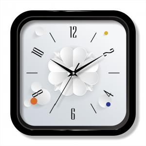 3D painting wall clock