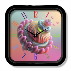 3D items design colorful wall clock
