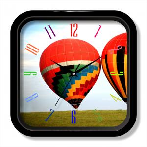 Colorful painting design clock