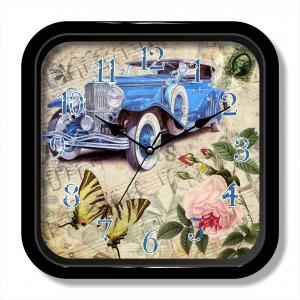 Antique car design square quartz wall clock