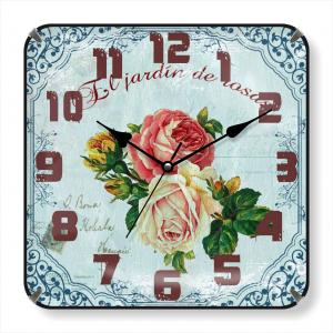 Square glass wall clock client design