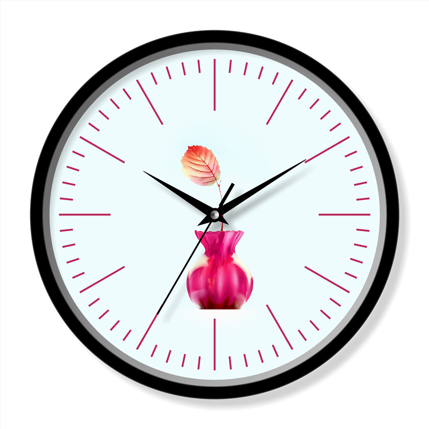 Flower decor clock
