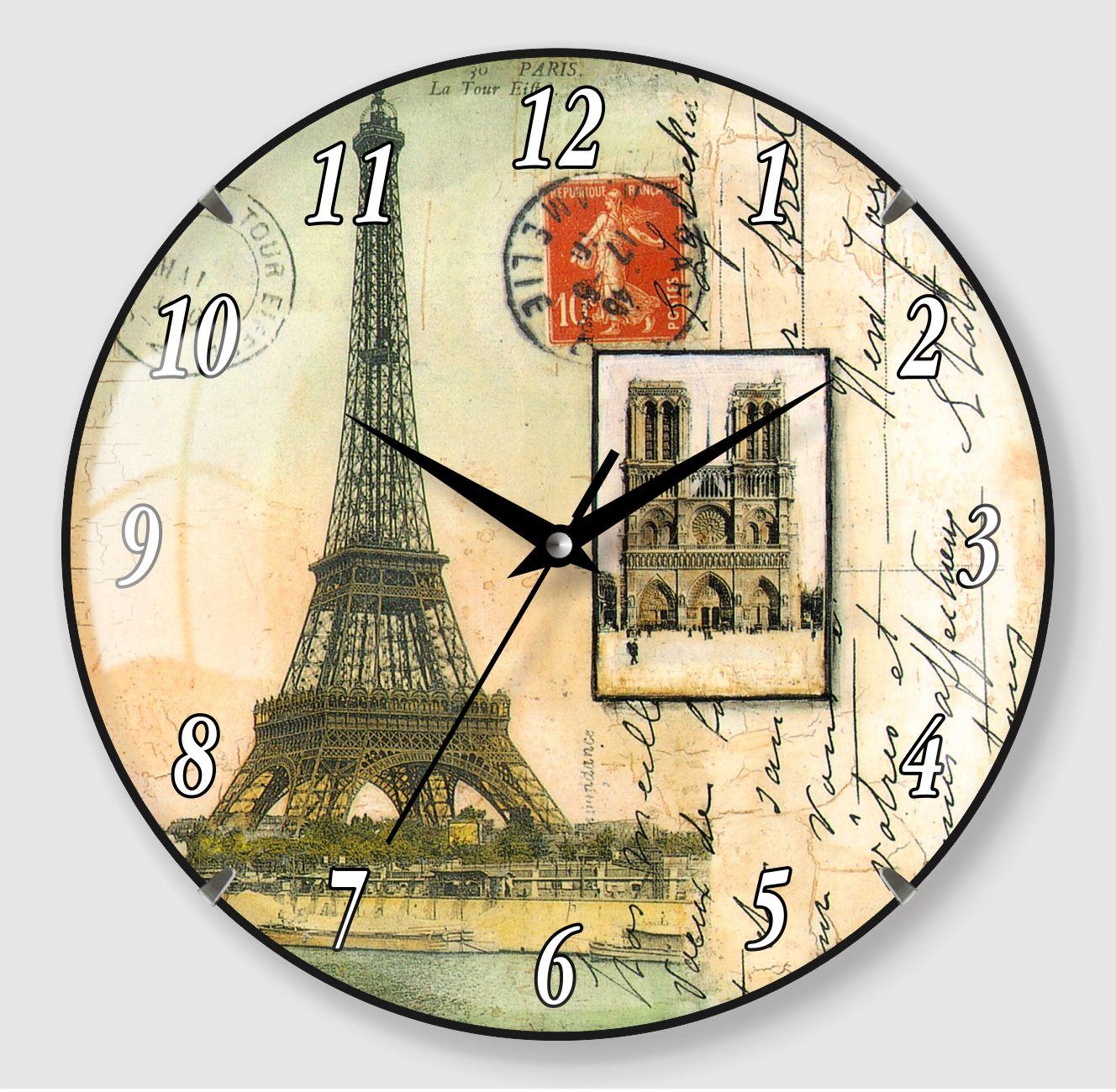 Retro design wall clock