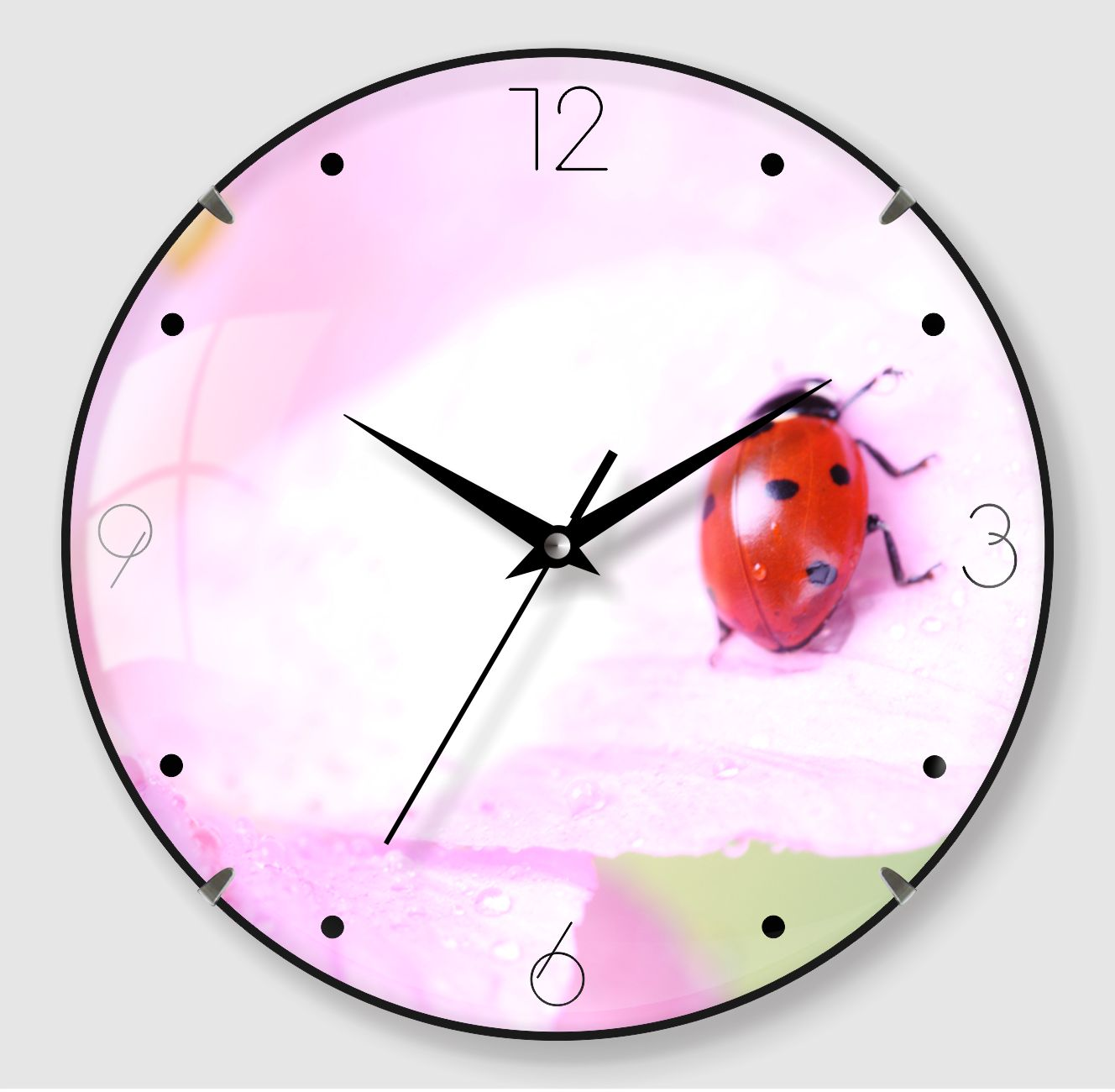 Flower Painting Wall Clock