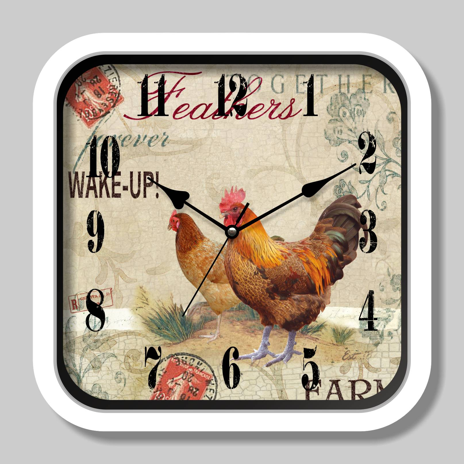 Plastic antique quartz wall clock