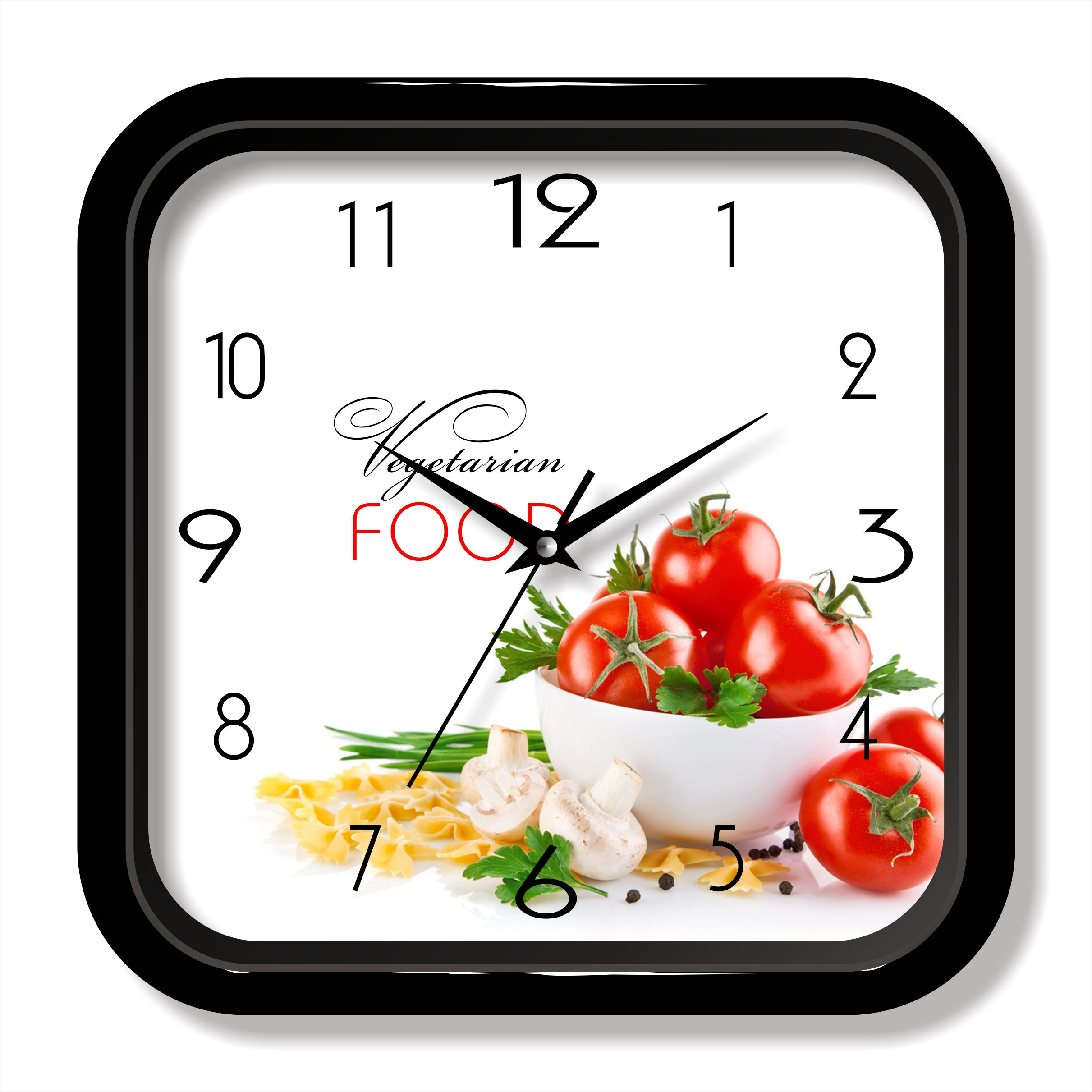 Food photo wall clock