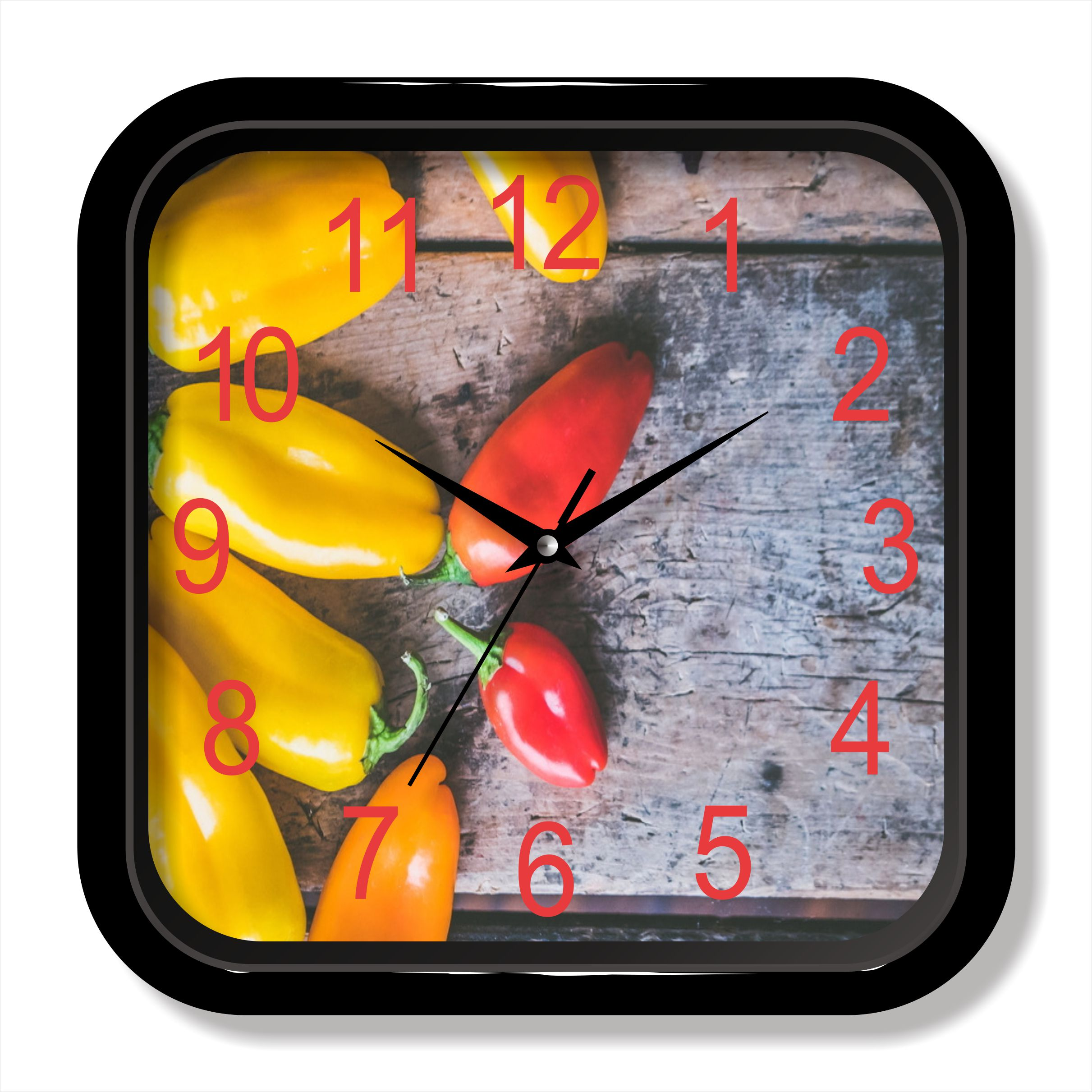 Vegetable photo painting quartz clock