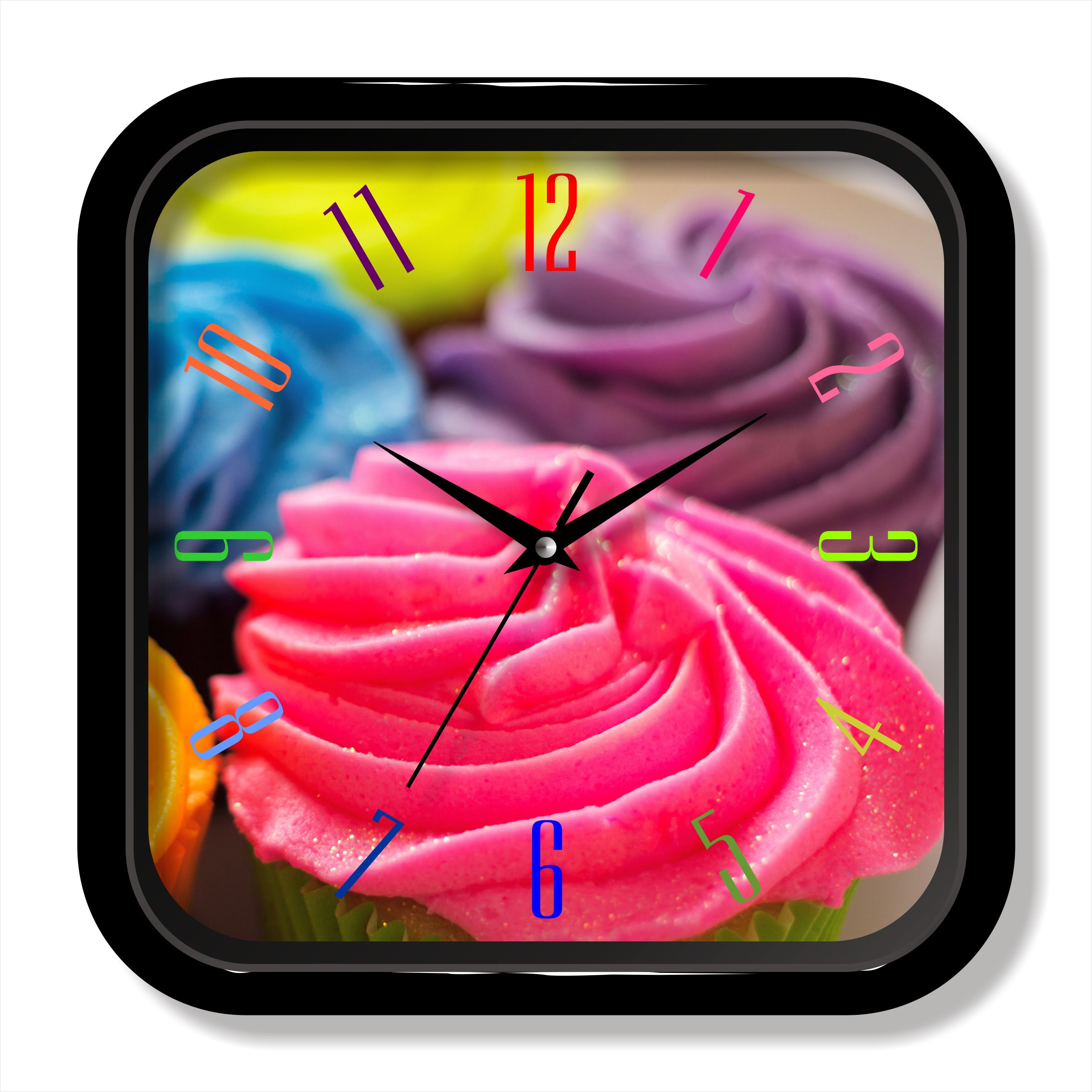 Colorful design painting wall clock